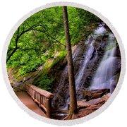 Juney Whank Falls Round Beach Towel