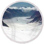 Jungfrau Glacier Round Beach Towel