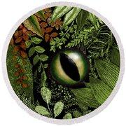 Jungle Eye Round Beach Towel by Carol Jacobs