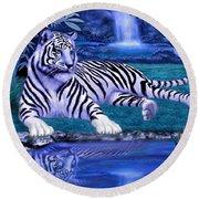 Jungle Tiger Round Beach Towel