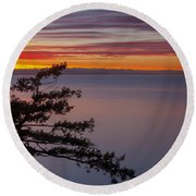 Round Beach Towel featuring the photograph Juniper Point by Jacqui Boonstra