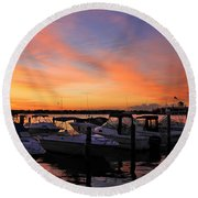 Just Before Dawn Round Beach Towel by Roger Becker