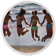 Just Jump Round Beach Towel