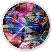Just Not Wright - Square Version Round Beach Towel by John Robert Beck
