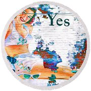 Just Sitting By The Side Of The Road - Digital Art Round Beach Towel