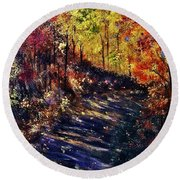 Just The Sound Of The Forest... Round Beach Towel