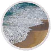 Just Waves And Sand By Kaye Menner Round Beach Towel