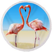 Just We Two Round Beach Towel