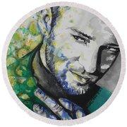 Justin Timberlake...01 Round Beach Towel by Chrisann Ellis