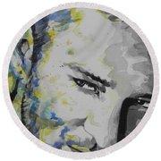 Justin Timberlake...02 Round Beach Towel by Chrisann Ellis