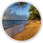 Kaanapali Beach Stroll Round Beach Towel