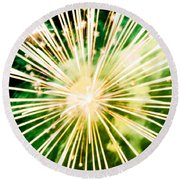 Round Beach Towel featuring the photograph Kaboom by Suzanne Luft
