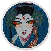 Kabuki Round Beach Towel