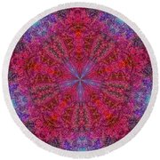 Round Beach Towel featuring the photograph Kaleidoscope 2 by Robyn King