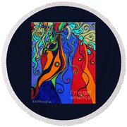 Kaleidoscope Eyes Round Beach Towel
