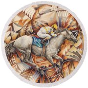Kaleidoscope Rider Round Beach Towel