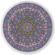 Round Beach Towel featuring the photograph Kaleidoscope by Robyn King