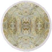 Kaleidoscope - Rock 3 Round Beach Towel by Andy Shomock