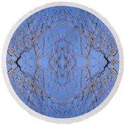 Kaleidoscope - Trees 1 Round Beach Towel