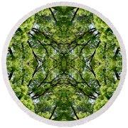 Kaleidoscope - Trees 1-1 Round Beach Towel