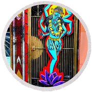 Kali In Color Round Beach Towel