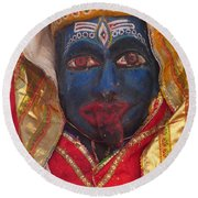Kali Maa - Glance Of Compassion Round Beach Towel
