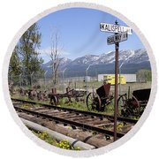 Kalispell Crossing Round Beach Towel