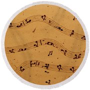 Kamasutra Music Coffee Painting Round Beach Towel