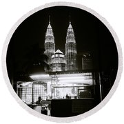 Kampung Baru Night Round Beach Towel