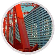 Kansas City Train Bridge - Pencoyd Railroad Bridge  Round Beach Towel
