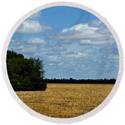 Kansas Fields Round Beach Towel by Jeanette C Landstrom