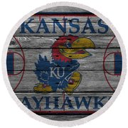 Kansas Jayhawks Round Beach Towel
