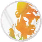 Kanye West Pop Art Round Beach Towel by Dan Sproul