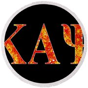 Kappa Alpha Psi - Black Round Beach Towel by Stephen Younts
