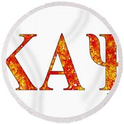 Kappa Alpha Psi - White Round Beach Towel by Stephen Younts