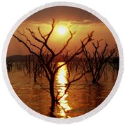 Kariba Sunset Round Beach Towel