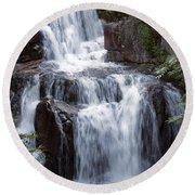 Katahdin Stream Falls Baxter State Park Maine Round Beach Towel