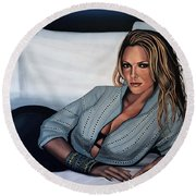 Katherine Heigl Round Beach Towel