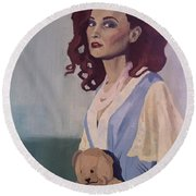 Katie - Teddy Bear Round Beach Towel