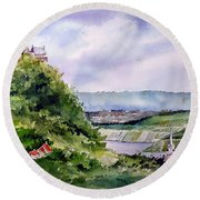 Katz Castle Round Beach Towel
