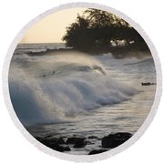 Kauai - Brenecke Beach Surf Round Beach Towel by HEVi FineArt
