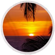 Kauai Sunset Round Beach Towel