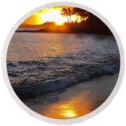 Kauai Sunset Round Beach Towel