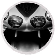 Round Beach Towel featuring the photograph Kawasaki Ninja - Zx -14 by Steven Milner