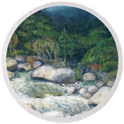 Kaweah River Round Beach Towel