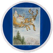Kay And The Snow Queen Round Beach Towel