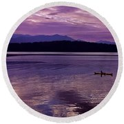 Round Beach Towel featuring the photograph Kayak On Dabob Bay by Greg Reed