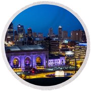 Kcmo Union Station Round Beach Towel