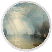 Keelmen Heaving In Coals By Moonlight Round Beach Towel