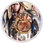 Keeper Of Legends Round Beach Towel